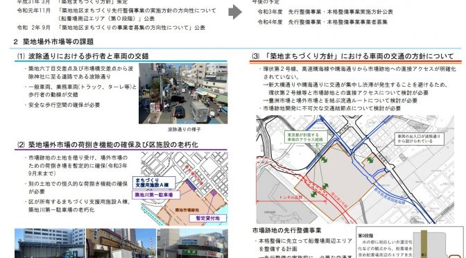 【築地・晴海】築地市場跡地再開発!晴海客船ターミナル解体!まちづくりの在り方について①