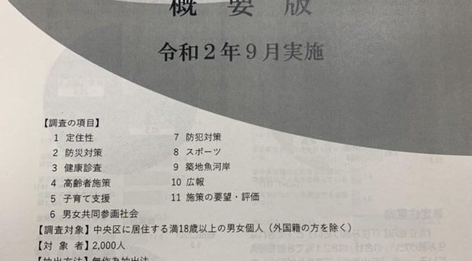 【企画総務委員会】中央区政世論調査の最新結果!